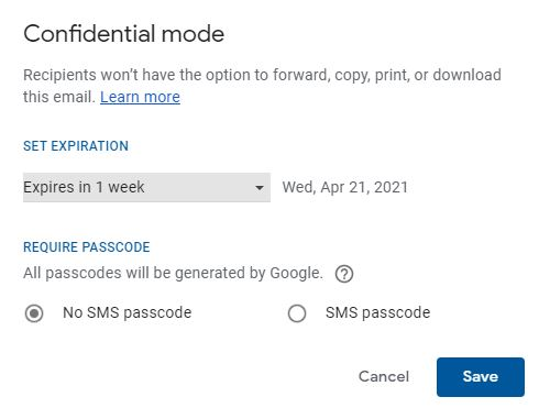 gmail confidential mode2 pigi gmail