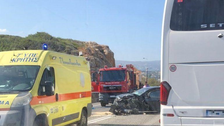 Αυτοκινητικό δυστύχημα στην Κρήτη: Ώρες αγωνίας για ένα κοριτσάκι