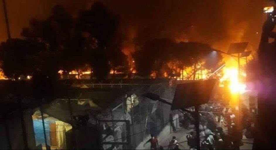 Πύρινη κόλαση στη Λέσβο: Στις φλόγες το ΚΥΤ της Μόριας   ΣΚΑΪ