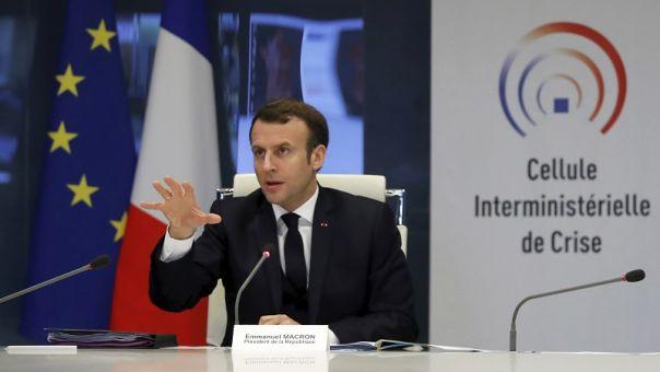 Μακρόν: Με την κρίση του κορωνοϊού διακυβεύεται η επιβίωση του ευρωπαϊκού εγχειρήματος