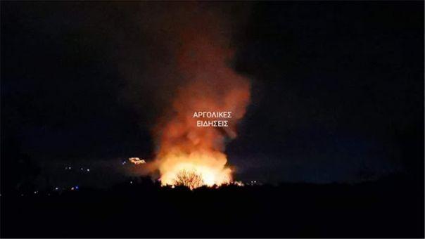 Πυρκαγιά σε χωματερή στο Άργος