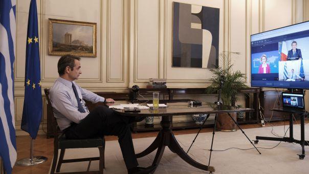 Τηλεδιάσκεψη Μητσοτάκη για το Λίβανο με Μακρόν, Τραμπ, Σίσι
