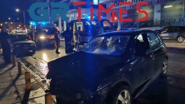 Τροχαίο με δύο τραυματίες στη Θεσσαλονίκη