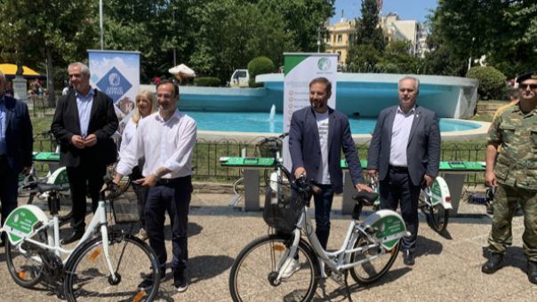 Σέρρες: Έγιναν τα εγκαίνια του νέου συστήματος κοινόχρηστων ποδηλάτων