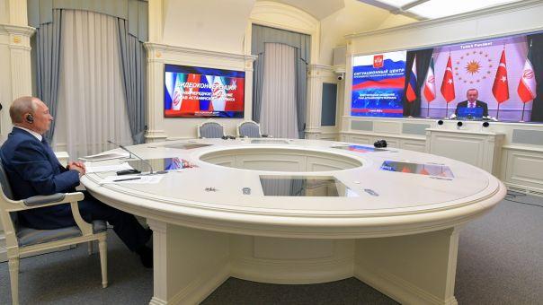 Βιντεοδιάσκεψη Πούτιν, Ροχανί, Ερντογάν - Τι συζήτησαν για Συρία