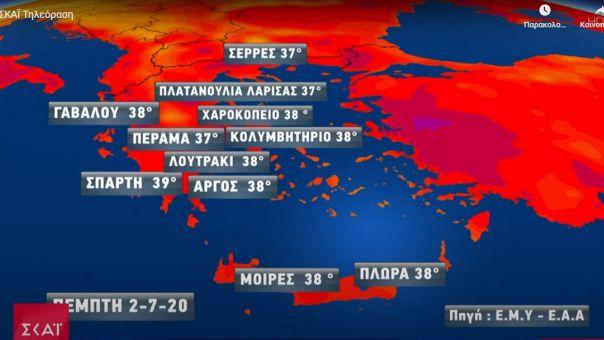 Καιρός - Στο «κόκκινο» ο υδράργυρος: Πότε πέφτει η θερμοκρασία