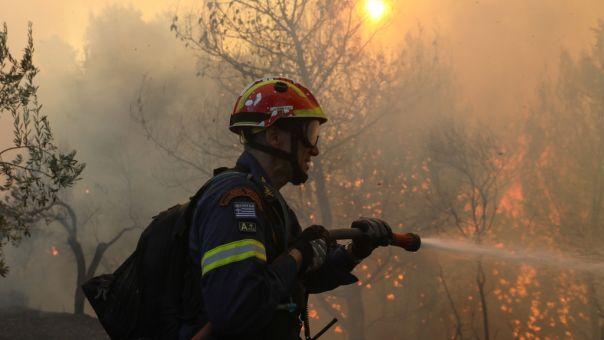 Μεσολόγγι: Φωτιά στην περιοχή Οινιαδών