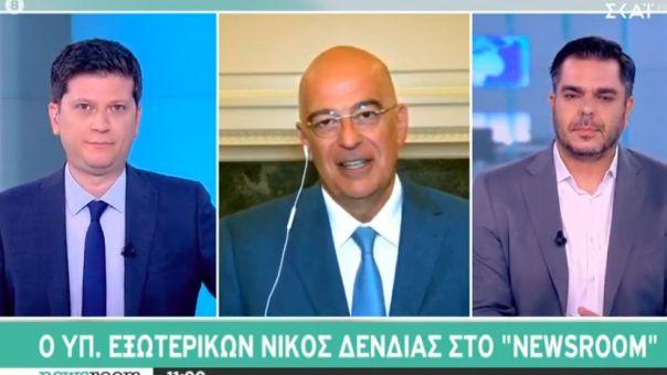 Δένδιας στον ΣΚΑΪ: Μεγάλη εθνική επιτυχία η συμφωνία με την Αίγυπτο - Το παρασκήνιο