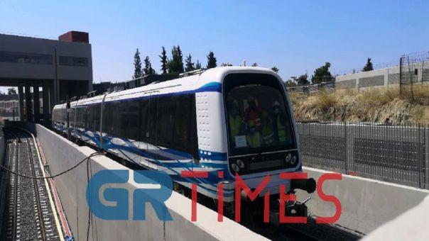 Μετρό Θεσσαλονίκης: Οι σύγχρονοι συρμοί σε κίνηση για πρώτη φορά (video)