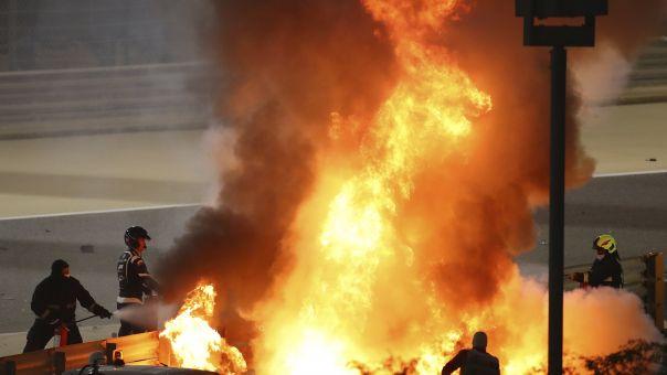 Σοκαριστικό ατύχημα στην Formula 1- Tυλίχθηκε στις φλόγες το μονοθέσιο του Γκροζάν (Video)