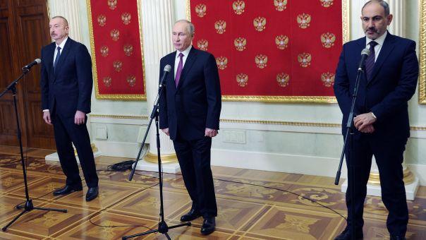 Ναγκόρνο Καραμπάχ: Oι προτάσεις Πούτιν για επίλυση στην τριμερή με Αρμενία- Αζερμπαϊτζάν