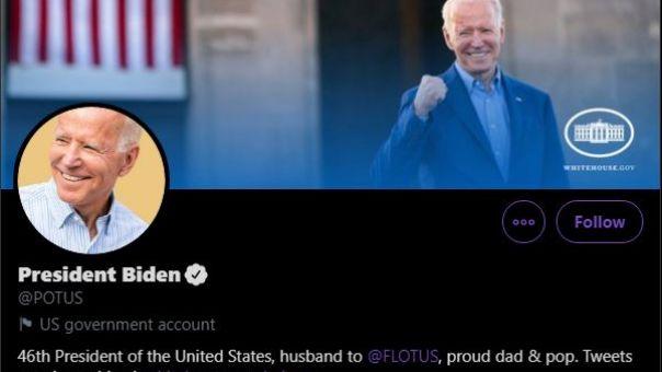 Οι επίσημοι λογαριασμοί στο twitter παραδόθηκαν στην κυβέρνηση Μπάιντεν