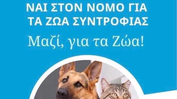 Κόμμα για τα Ζώα: Εξαιρετικά θετικό το νομοσχέδιο για τα ζώα συντροφιάς