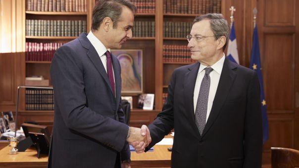 Συγχαρητήρια Μητσοτάκη σε Ντράγκι, για την ανάληψη των πρωθυπουργικών του καθηκόντων