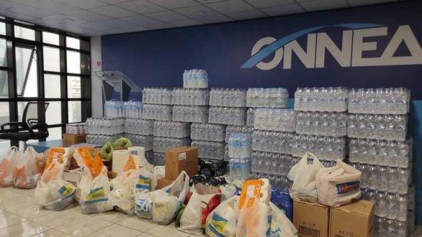 Μεγάλη ανταπόκριση στο κάλεσμα της ΟΝΝΕΔ -ΔΑΠ-ΝΔΦΚ για στήριξη σεισμοπαθών σε Λάρισα