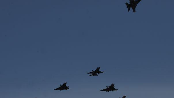 Πάνω από τον Αττικό ουρανό μαχητικά αεροσκάφη για τον Ηνίοχο 2021 (φωτό)