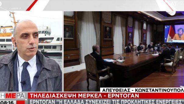 Τηλεδιάσκεψη Μέρκελ-Ερντογάν: Η Ελλάδα συνεχίζει τις προκλητικές ενέργειες, λέει ο Τούρκος πρόεδρος
