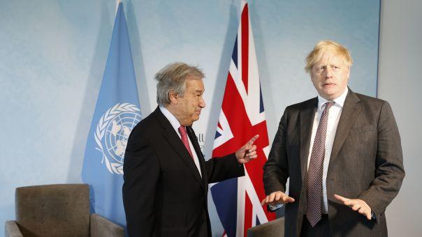 Κυπριακό στη συζήτηση Τζόνσον -Γκουτέρες στο περιθώριο του G7